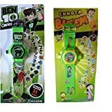 Combo Of Ben 10 & Chhota Bheem Projector Wristband - 24 Images (Multicolor)