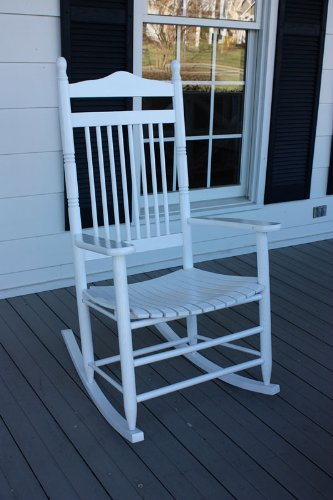 Dixie Seating Company Jumbo Wooden Rocking Chair With Slat Seat, 467Rta front-957101