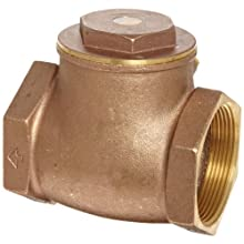 "Dixon SWCV300 Brass Horizontal Swing Check Valve, 3"" NPT Female"