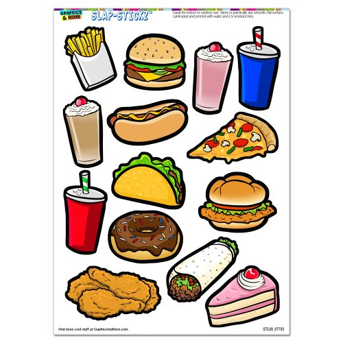 Schnelle Schrott Lebensmittel - Pizzaofen Pizzadom HOT DOG Kuchen- und Burger frites Soda SLAP-STICKZ für Partys und andere Bastelarbeiten Autoscheibe JUMBO Spindschrank CUT STICKER BOMB hier kaufen