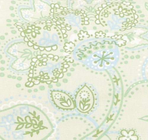 My Brest Friend Twins Plus Slipcover, Green Paisley