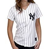 MLB New York Yankees Home Replica Baseball Women&#039;s Jersey, White/Navy
