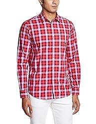 Arrow Sports Men's Casual Shirt  (8907259819266_ASRS3200_44_Dark Red)