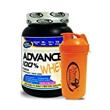 Advance Nutratech Shaker 600ml& ADVANCE 100% WHEY 25gm Protein Per 33gm 1kg Vanilla (Combo Offer)