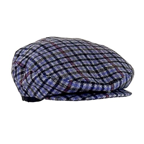 Wool Plaid Lined Ivy Touring Cap w/ Snap Brim, Retro Driving Hat, One Size