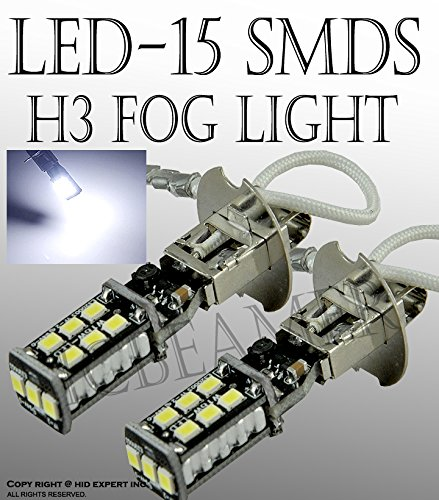 JDM H3 15W Canbus High Power Fog Driving DRL LED Light Bulb Lamp Bright White (2005 Passat Fog Lights compare prices)