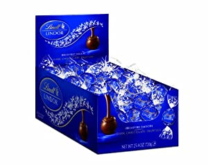 Lindt LINDOR Dark Chocolate Truffles ,60 Count Box