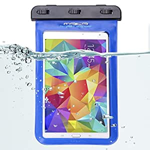 Waterproof Case, MoKo Universal Waterproof Case for iPad Mini Retina, Mini 3, Mini 4, Google Nexus 7 (FHD), Galaxy Tab 2 /3 / 4 / 5, Sony Z3, and Other Tablets up to 8.3 Inch - IPX8 Certified, BLUE