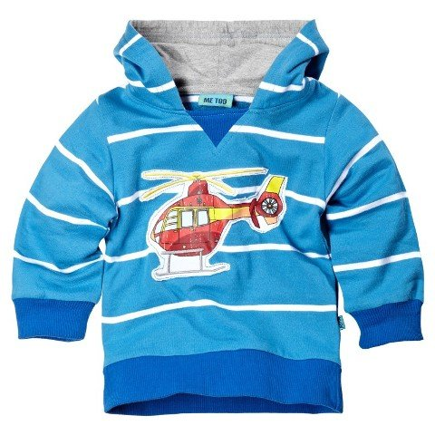 Me Too Boys Helicopter Hooded Sweat Top - (Orla - Ocean)