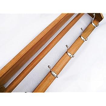 Wood Coat Rack Wall Shelf Wall Mounted Entry Way Coat Rack 25.8wide inch 5hook 1shelf