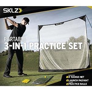 SKLZ 3 In 1 Golf Practice Set Hitting Mat, Net & Practice Balls Training Aids by SKLZ