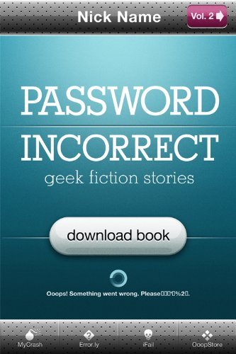 Large book cover: Password Incorrect