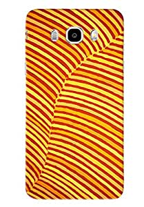 Blue Throat Yellow Stripes Hard Plastic Printed Back Cover/Case For Samsung Galaxy J5 2016