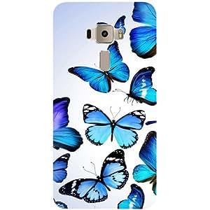 Casotec Flying Butterfly Colorful Design 2D 3D Printed Hard Back Case Cover for Asus Zenfone 3 ZE520KL