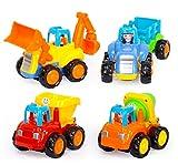 ディーマーク D-Mcark ミニショベルカー 砂場 おもちゃ 子供用 工事トラック 4セット 知育玩具