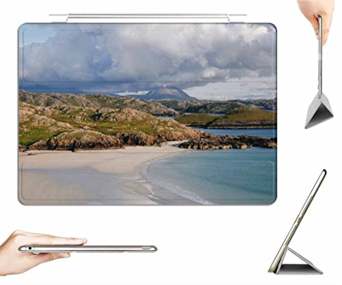 irocket-ipad-2-3-4-case-transparent-back-cover-polin-beach-kinlochbervie-scotland-auto-wake-sleep-fu