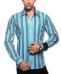 Moksh Men's Striped Casual Shirt V2IMS0414-253 (Large)