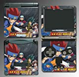 Beyblade Metal Fury Masters 4D Ginka Game Vinyl Decal Skin Protector Cover Kit 6 for Nintendo GBA SP Gameboy Advance Game Boy
