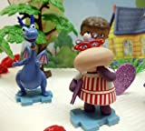 Doc McStuffins Birthday Cake Topper Set Featuring Doc McStuffins, Donny McStuffins, Lambie, Stuffy the Dragon, Chilly the Snowman, Hallie the Hippo and Themed Decorative Cake Pieces