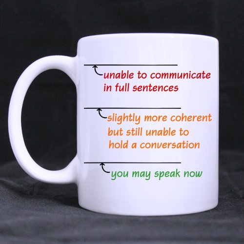 Best Funny Sarcasm Office Gift You May Speak Now Theme Coffee Mug Or Tea Cup,Ceramic Material Mugs,White - 11Oz