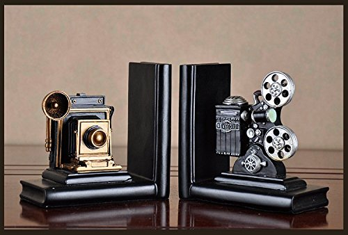 HEYFAIR Retro Camera Bookends Racks Book Ends Sets Bookshelf Organizers(1 pair) 2