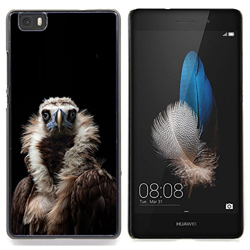 - Condor Bird Black Vulture Nature Feather/ Copertura dura Snap On Cell Phone - Cao - For HUAWEI P8 Lite