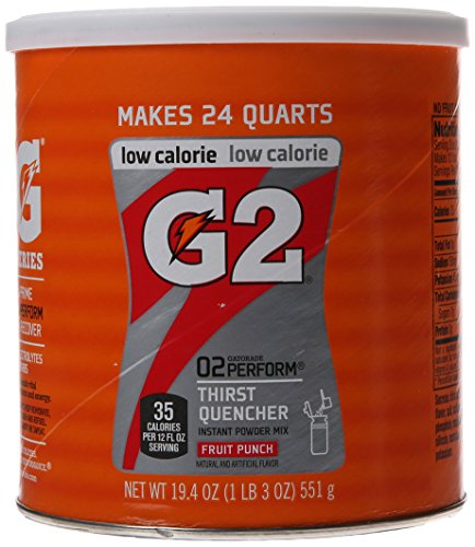 Gatorade Perform G2 02 Perform Thirst Quencher Instant Powder Fruit Punch Drink 19.4 Oz. (1 Each) (Fruit Punch G2 Gatorade compare prices)