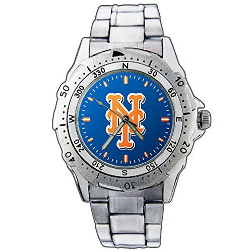 Men'S Wristwatches Pe01-1855 New York Mets Logo Stainless Steel Wrist Watch