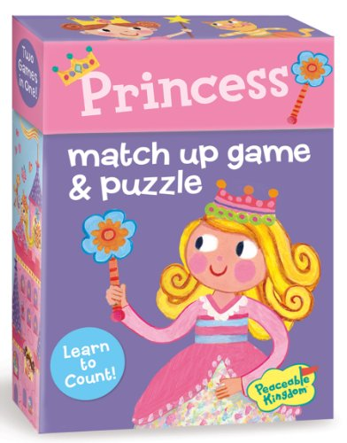 Peaceable Kingdom / Princess 2-In-1 Match Up Memory Game & Floor Puzzle front-711209