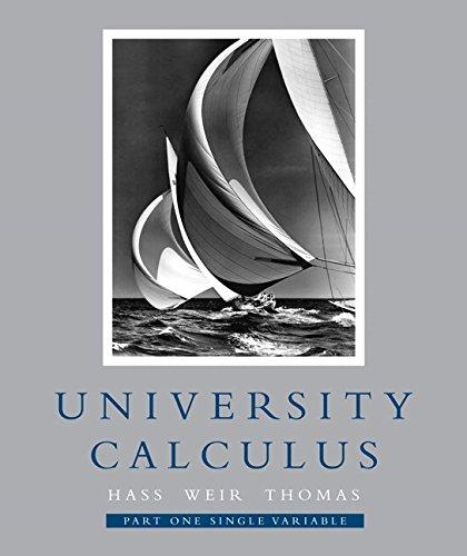 Etreosa PDF Ebook University Calculus Part One Single