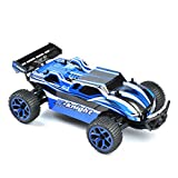 GizmoVine RC Car 4WD High Speed 1:18 Scale, 2.4Ghz Remote control Electric Racing sand Buggy, Vehicle with Rechargeable Battery - Blue