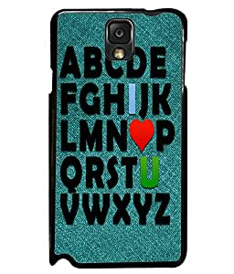 PrintVisa Metal Printed Alphabet Quotes Designer Back Case Cover for Samsung Galaxy Note 3-D5121