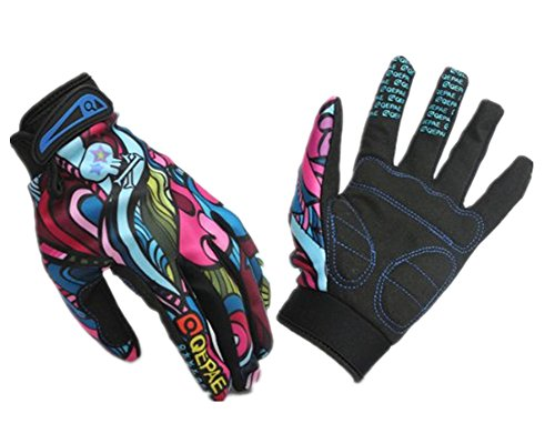 Skeleton-Pattern Full Finger Bicycle/Cycling/Bike Sporting Gloves Black + White L (Multi, XL)
