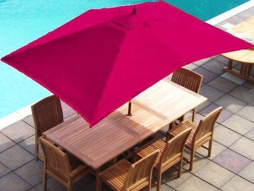 Cheap Price Cerise Replacement Rectangular Parasol Cover 3x2