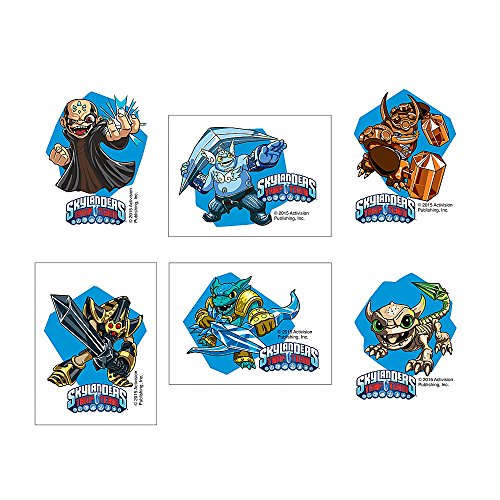 Skylanders Trap Team Temporary Tattoos - Birthday and Theme Party Favors - 144 per Pack