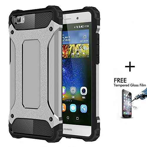 Click to buy Onway Armor Hybrid Hard PC And Flexible Rubber Shockproof Bumper Drop Resistance Defend Case For Huawei Ascend P8 Lite 5 Inth Silver - From only $39.95