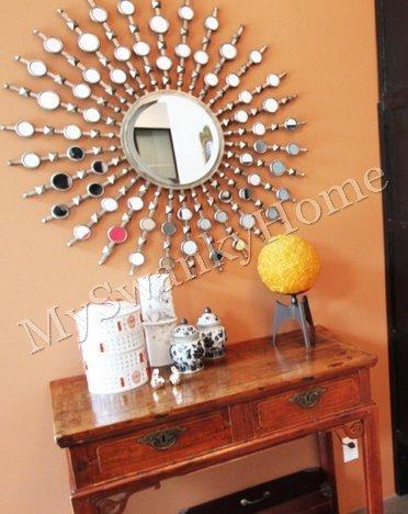 Extra Large Sunburst Starburst Silver Wall Mirror Oversize