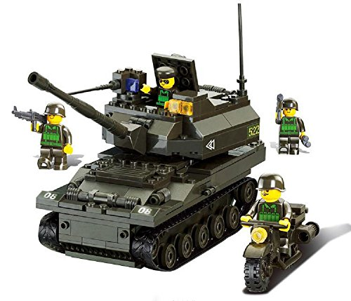 ARMY TANK SQUAD (258pcs) - 4 minifigures included