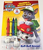 Paw Patrol Coloring and Activity Book with 4 Jumbo Crayons and Over 30 Stickers ~ Ruff-Ruff Rescue (2014) by Nickelodeon