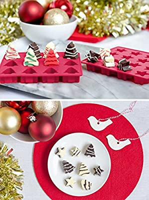 StarPack Premium Silicone Christmas Candy Molds (3 Pack) + Bonus 101 Cooking Tips