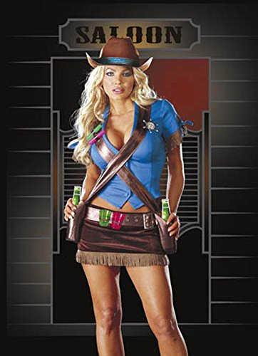 Saloon Girl Sm Halloween Costume - Adult Small