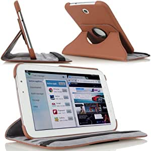 MoKo(TM)360 Degree Rotating Cover Case for Samsung Galaxy Note 8.0 inch GT - N5100 / N5110 Android Tablet, COFFEE (with Vertical and Horizontal Stand and Smart Cover Auto Wake/Sleep)