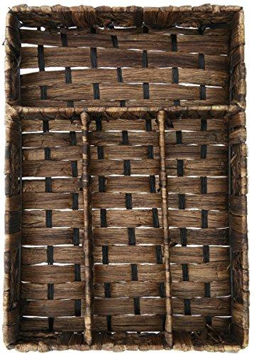 Wicker Cutlery Tray - Compartmentalized Wicker Basket -Simple Weave