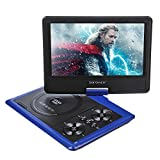 DBPOWER 9.5-Inch Portable DVD Player, 270 degree Swivel LCD Screen, USB, Support Analog Signal TV, SD Card, SWIVEL & Flip,VAG,CD,VCD,MP3,MP4,With Game CD+ Game Controller