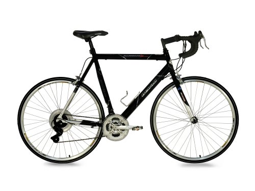 GMC Denali Road Bike (Large 25″/63.5cm Frame, Black/Silver)