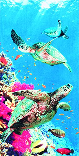 Coral Turtle Beach Towel