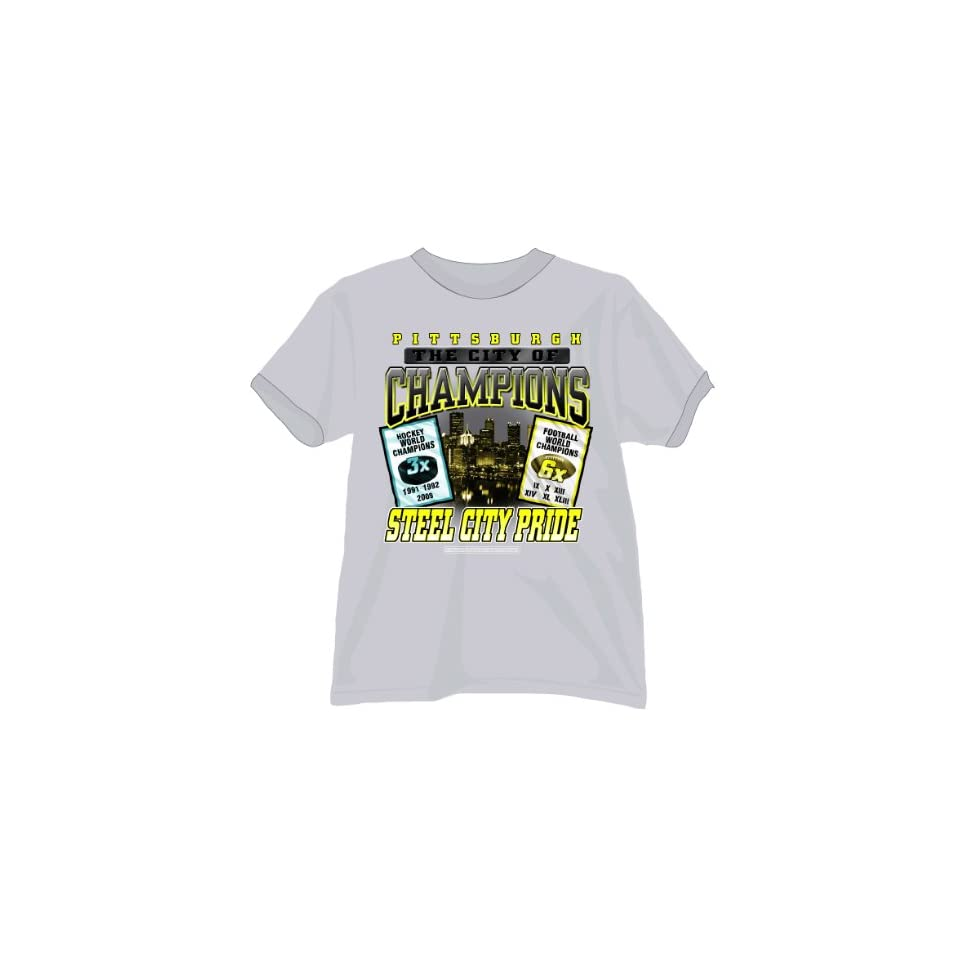 61252cd55 Pittsburgh City Of Champions Grey T Shirt Sports on PopScreen
