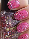 Valentines Glitter Nail Polish Set of Two- Barry M Pink Sapphire Glitter (352) Barry M Bright Pink (279)