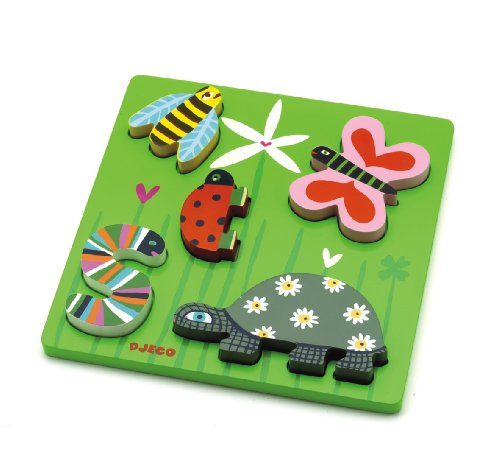 Picture of Djeco Little Beads Peg Puzzle (B002QDI12S) (Pegged Puzzles)