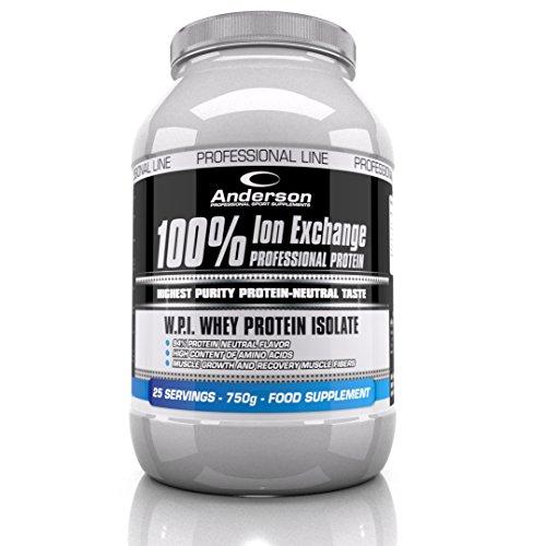 Anderson 100% Whey Professional Protein Ion Exchange Proteine professionali neutre Sieroproteine isolate a scambio ionico (750g)